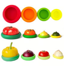 Silicone Food Saver Caps (4pc/set) (Free Shipping)