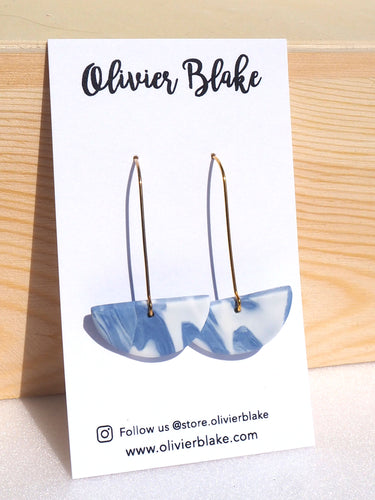 AKIRA WAVES I KIDNEY HOOKS HANDMADE POLYMER CLAY EARRINGS