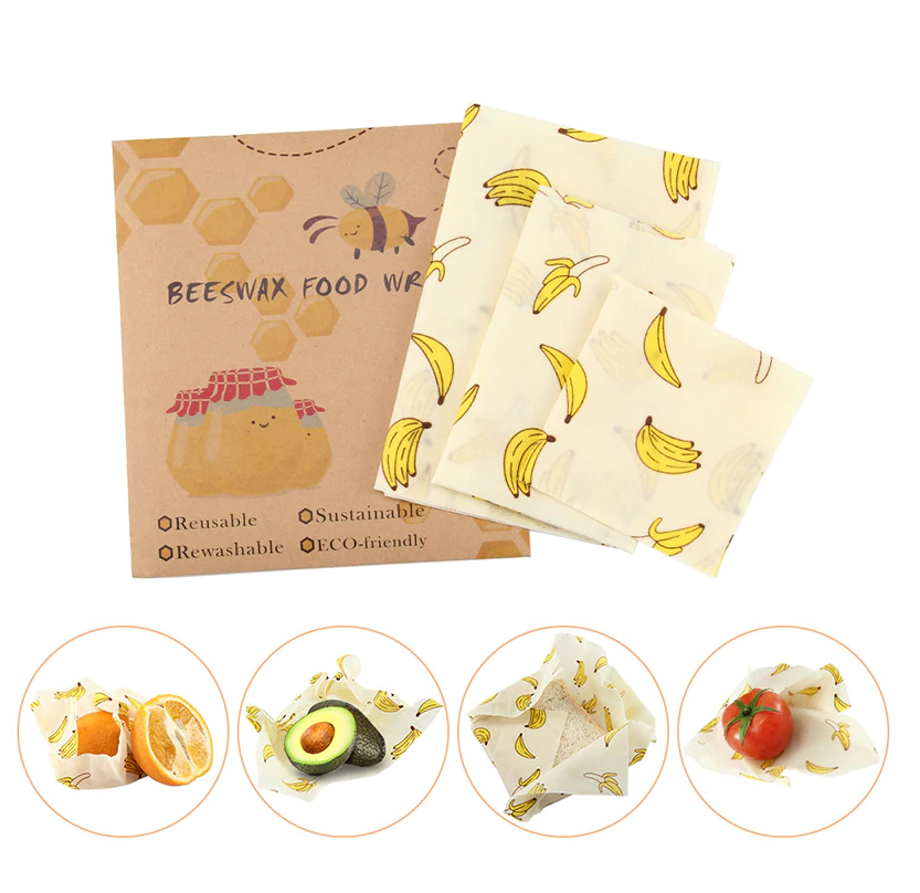 3 Beeswax Food Wraps