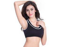 Sports Mesh Fitness Top Push-up Sports Bra