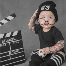 Baby Bodysuit with Tattoo Sleeves (0-3T)