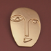 Delilah Abstract Face Brooch