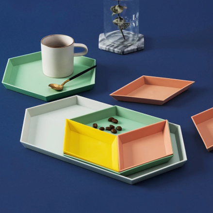 Geometric Color Block Trays (Set of 4)