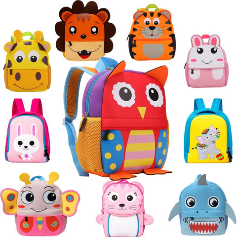 2020 New 3D Children School Bags for Preschool Children