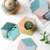 Geometric Color Block Coasters