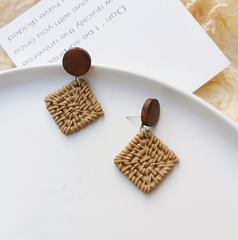 Ingrid Rattan Earrings