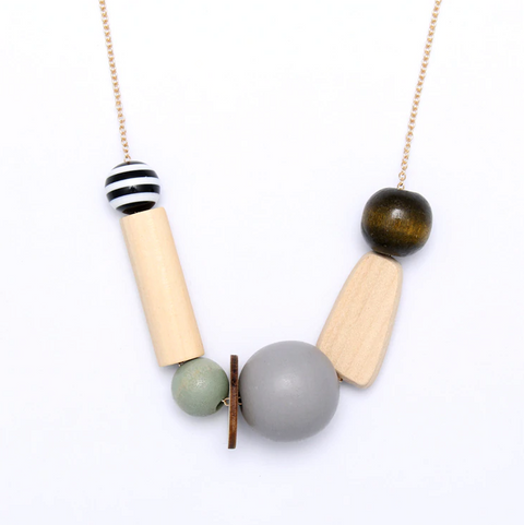 Jecolia Multi Wooden Bead Long Necklace