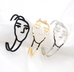 Francine Abstract Face Bangles