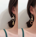 Queenie Assymetric Geoemtric Earrings