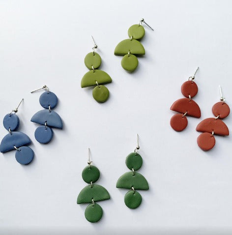 Kylie Handmade Polymer Clay Earrings (Free Shipping)
