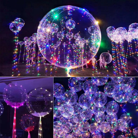 "18"" Luminous Led Balloon with String Lights"