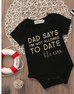 2-Pc  Not Allowed To Date Bodysuit Set 0-18M