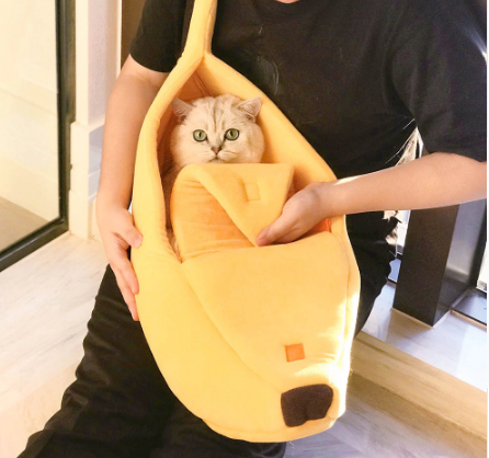 Soft Banana Breathable Pet Bed