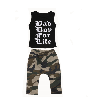 2-Pc Bad Boy For Life Set 1-4Y
