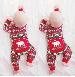 Baby Christmas Beary Romper
