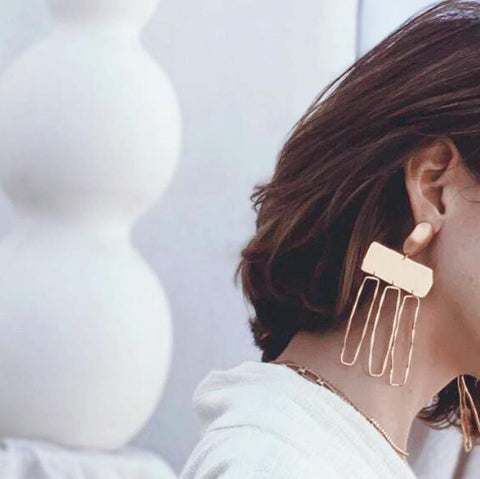 Bobbie Geometric Statement Earrings