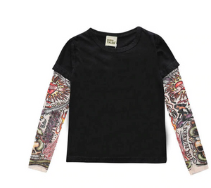 T-Shirt with Tattoo Sleeves JR