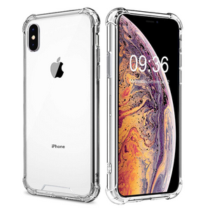 IPhone XS Max XR X Transparent Shockproof Protective Bumper Case Cover