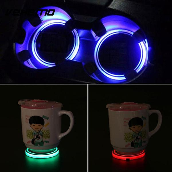 Solar Powered LED Cup Mat (2PC)