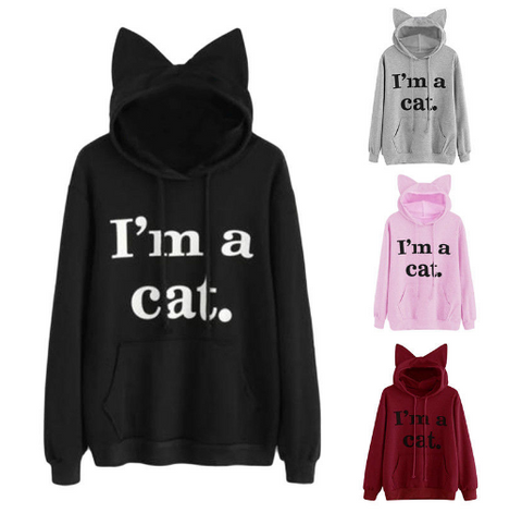 I'm A Cat Hooded Sweatshirt