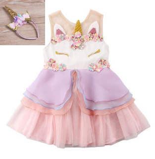 Baby Girl Unicorn Dress