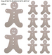 10 Pc Christmas Tree Wooden Decorations Set