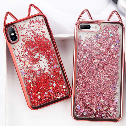 Cat Glitter Iphone Cover