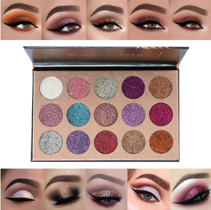 15 Color Glitter Eye Shadow Palette