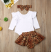 3PC Alison Leopard Print Skirts Outfits