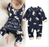 Don't Moose With Me Christmas Romper 0-18M