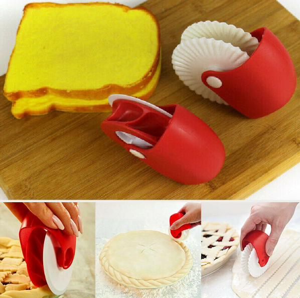 2-Pc Roller for Pastry, Pie, Lattice Cutter Sealing Tools Set