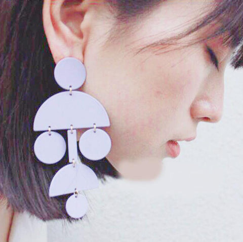 Poppy Geometric Statement Earrings