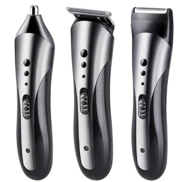 3 in 1 Rechargeable Hair Clipper Beard Nose Ear Trimmer