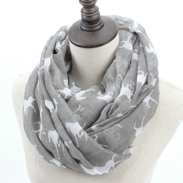 Horse Print Scarf (Available in 7 Colors)