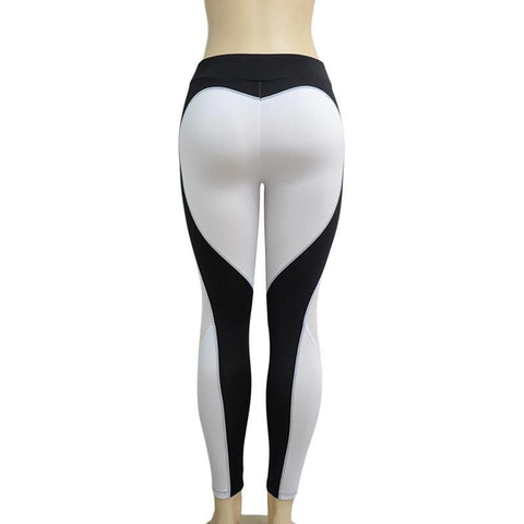 Heart Splicing Elastic Sports Leggings