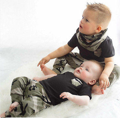 2-Pc Gray Or Black Camouflage Set