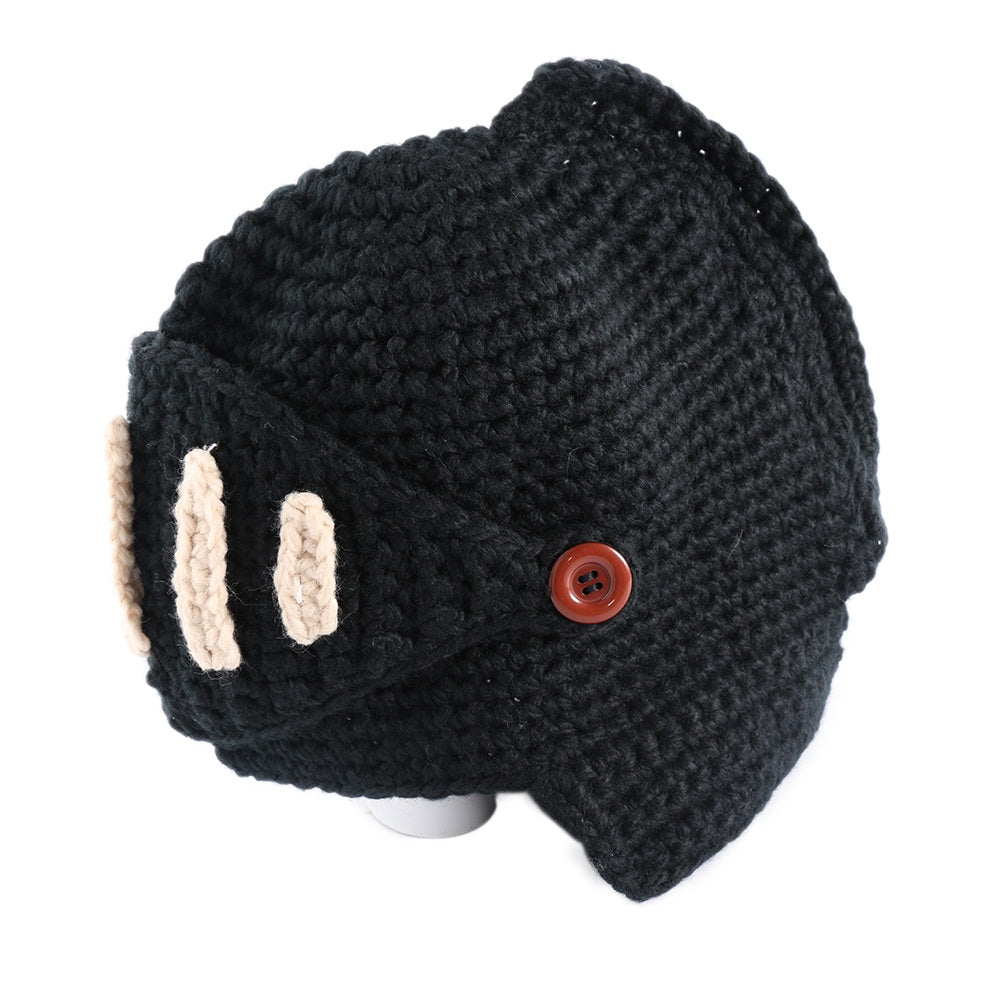 Knitted Knight Beanie Cap