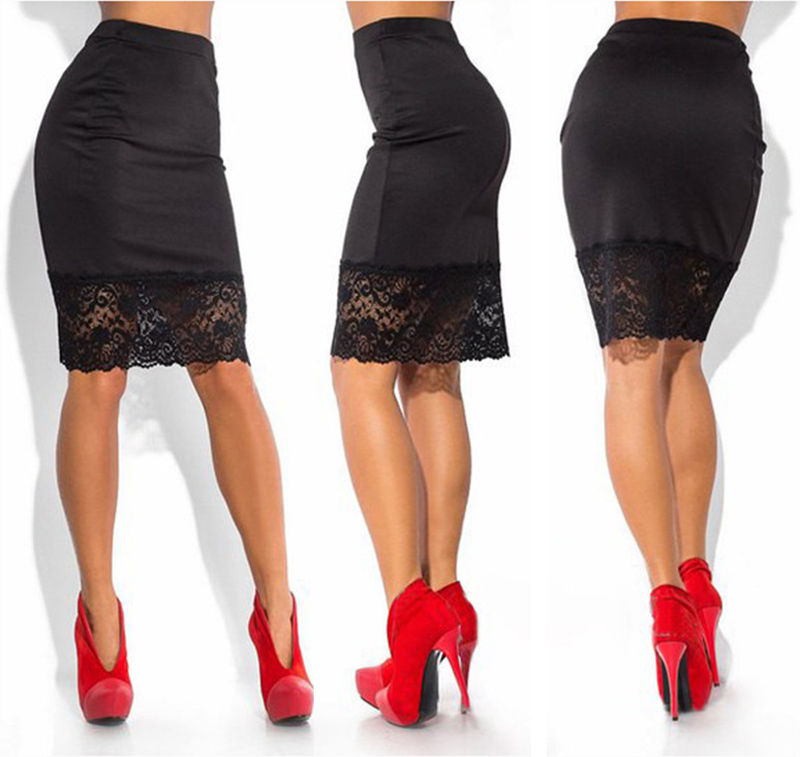 HOT  Sexy Lace Stretchable Pencil Skirts