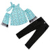 2-Pc  Girl Stylish Top & Pants  Set