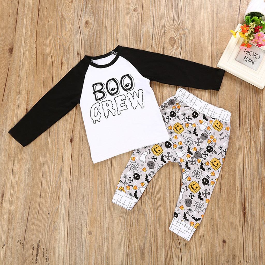 2-Pc Boo Crew  Halloween Set 0-24M