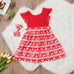 Christmas Lace Sleeveless Mini Dress