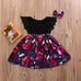 Sisters Matching Floral Romper Dress Set 0-7Y (Free Shipping)