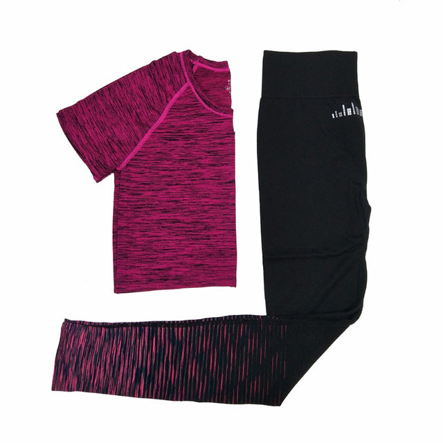 Quick Dry Breathable Sports T Shirts & Pants Set