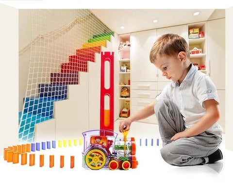 Automatic Tumble Domino Train With Light Sound Set