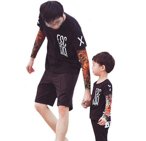 T-Shirt with Tattoo Sleeves for Adults