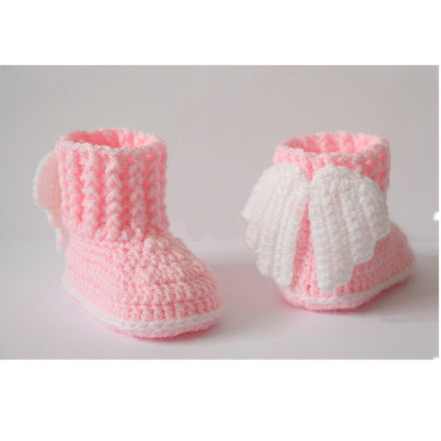 Unisex Baby Crochet Angel Wings Booties (0-12M)