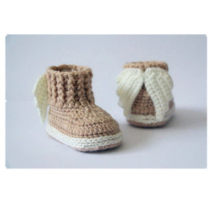 Unisex Baby Crochet Angel Wings Booties (0-12M Available in 7 Colors)