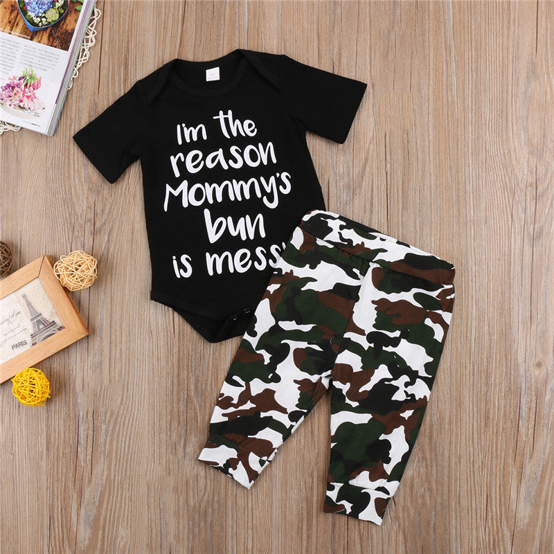2-Pc Mommy's Bun Is Messy Camouflage Set (FREE SHIPPING)