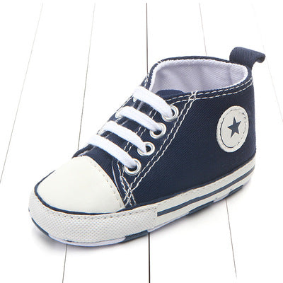 Baby Canvas Crib Shoes