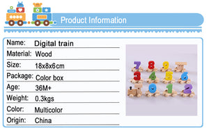 Wooden Numbers Train Set